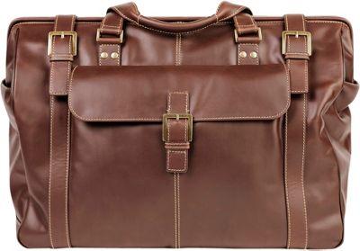 Boconi Bryant Safari Bag Antiqued Mahogany with Houndstooth - Boconi Rolling Duffels