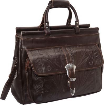 """Ropin West 18"""" Leather Weekender Brown - Ropin West Luggage Totes and Satchels"""