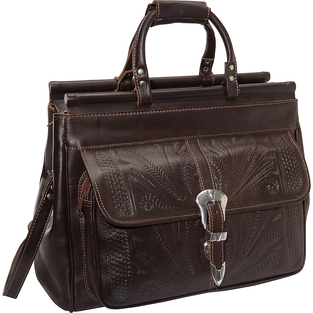 Ropin West 18 Leather Weekender Brown Ropin West Luggage Totes and Satchels