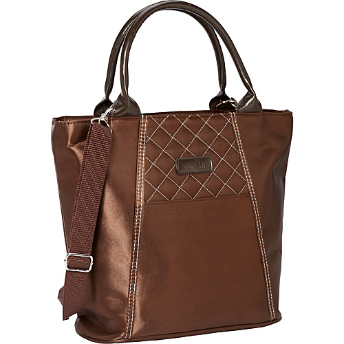 Sachi Insulated Lunch Bags Style 120 Lunch Satchel Brown - Sachi Insulated Lunch Bags Travel Coolers