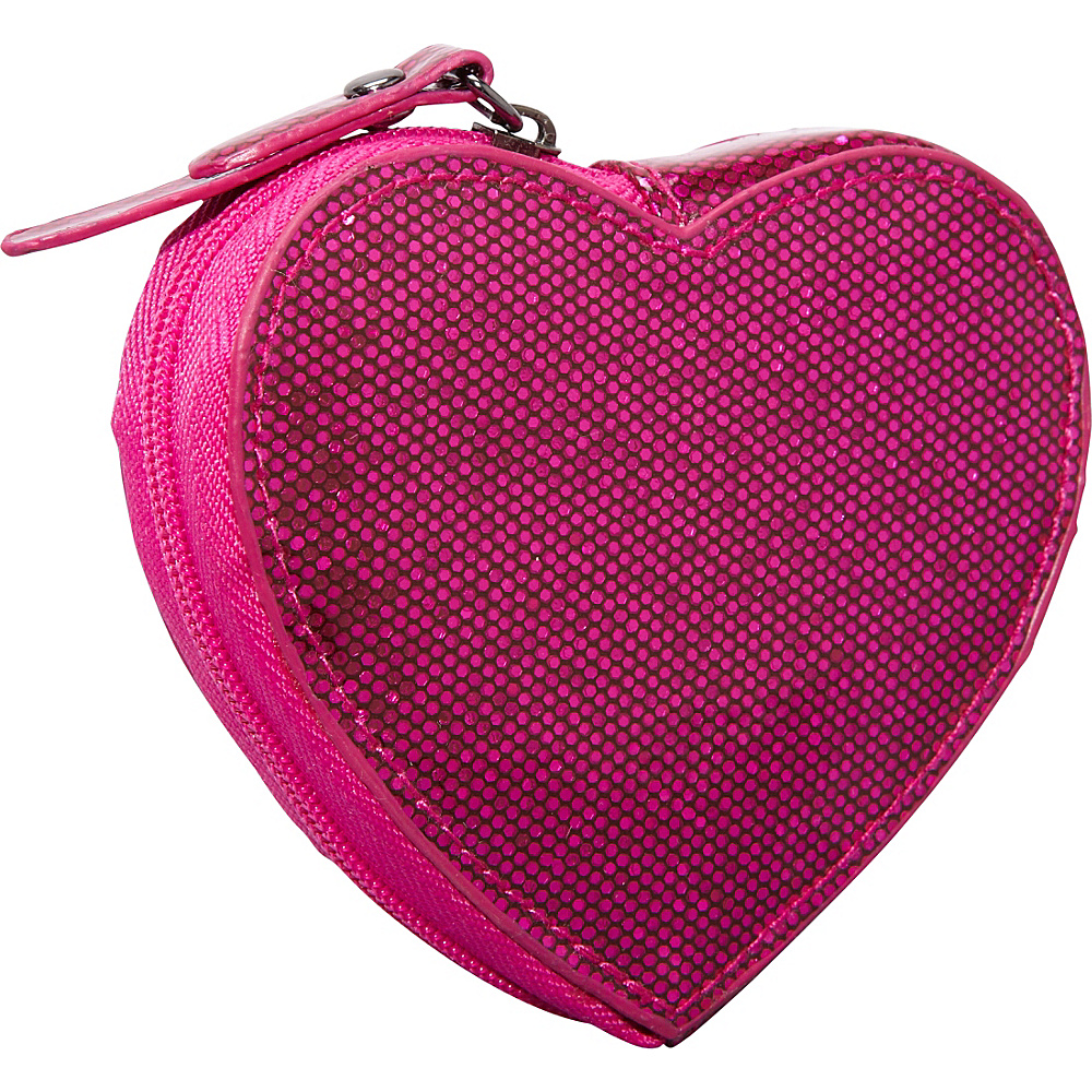 Clava Jazz Glitter Heart Coin Purse Fuschia - Clava Ladies Small Wallets