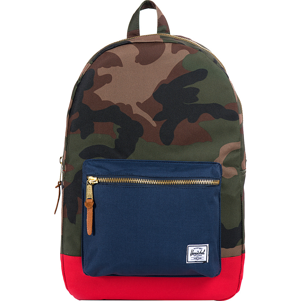 Herschel Supply Co. Settlement Laptop Backpack Woodland Camo Navy Red Herschel Supply Co. Business Laptop Backpacks