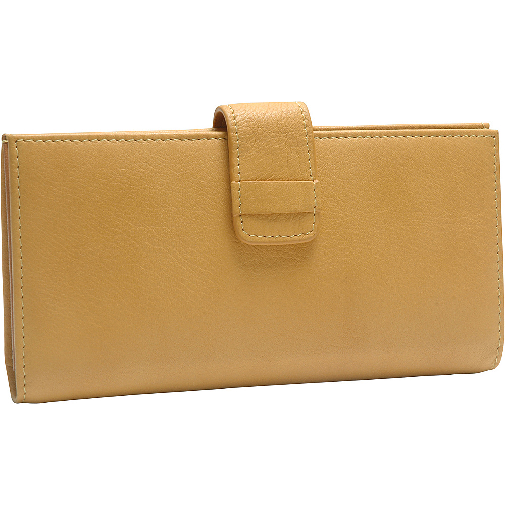 TUSK LTD Donington Napa Slim Clutch Wallet Golden TUSK LTD Women s Wallets