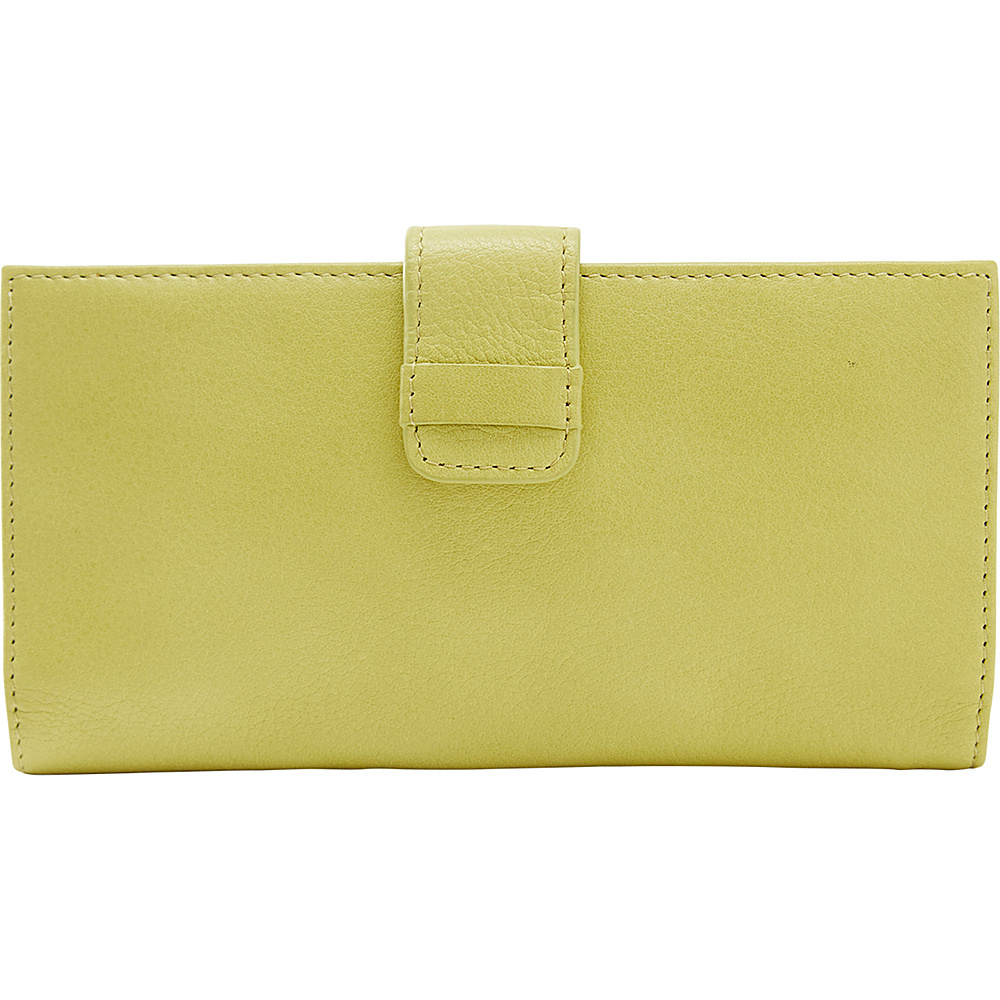 TUSK LTD Donington Napa Slim Clutch Wallet Lime TUSK LTD Women s Wallets