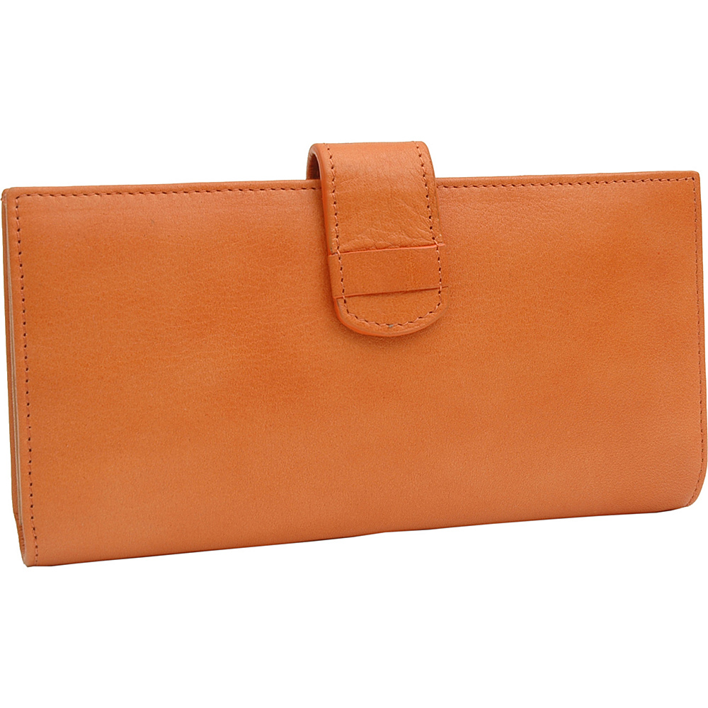 TUSK LTD Donington Napa Slim Clutch Wallet Tangerine TUSK LTD Women s Wallets