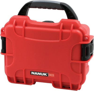 NANUK 903 Water Tight Protective Case w/ Foam Insert Red - NANUK Camera Accessories