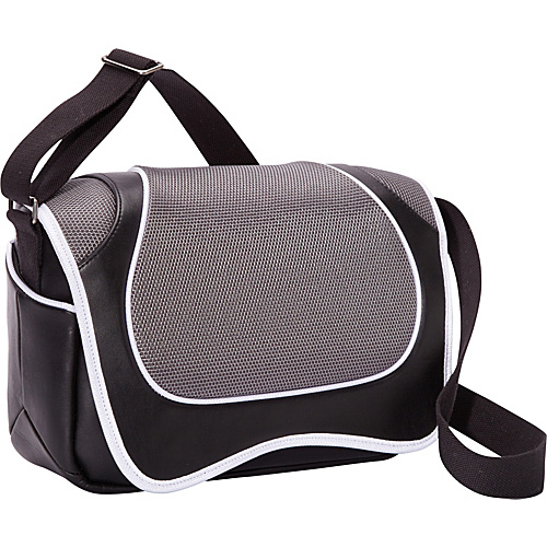 Aerystar Vancouver Iconic Series Messenger Bag Gray / Black / White - Aerystar Messenger Bags