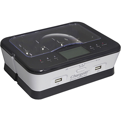 Digital Treasures ChargeIt! Battery Station Pro White - Digital Treasures Personal Electronic Cases