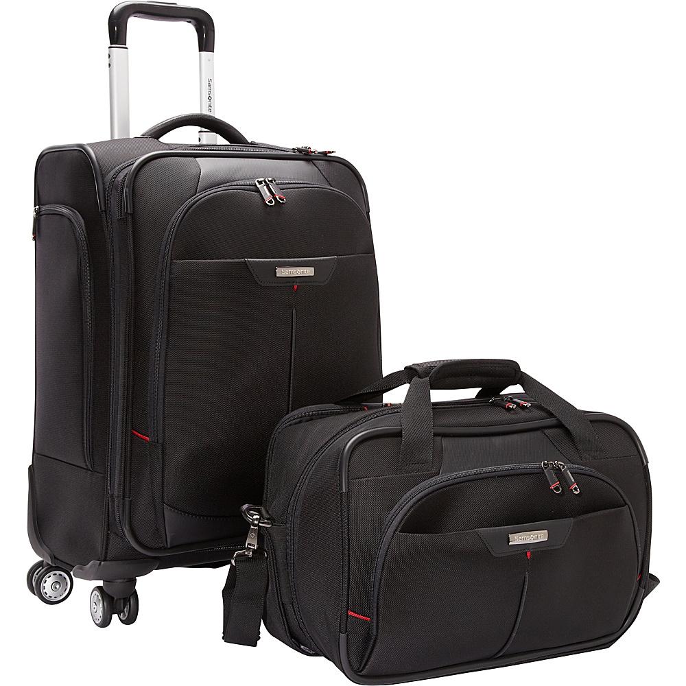 Samsonite Elite Spinner & Laptop Boarding Bag Set EXCLUSIVE Black - Samsonite Luggage Sets