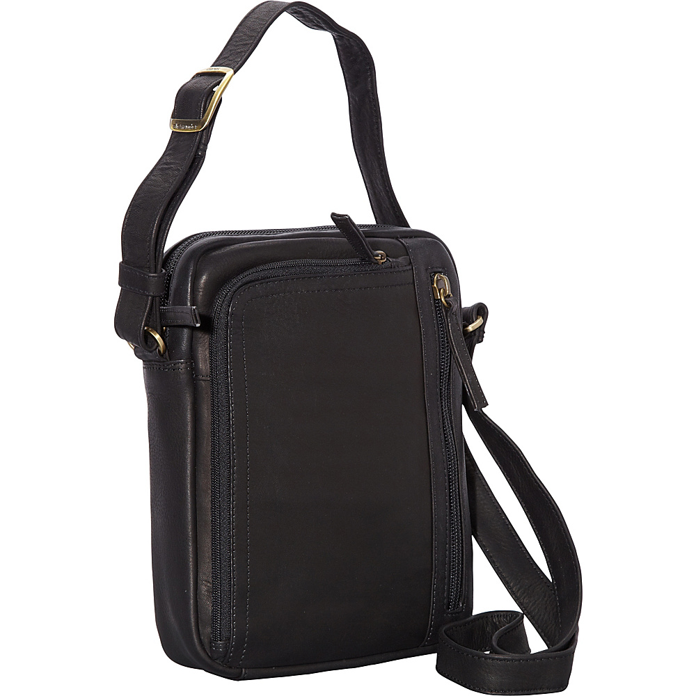 Derek Alexander NS Camera Bag Black - Derek Alexander Leather Handbags