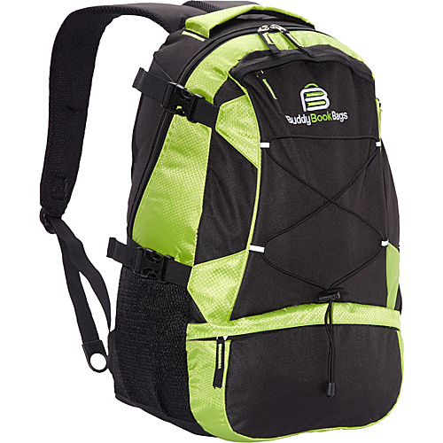 Buddy Book Bags Laptop Backpack Green and Black - Buddy Book Bags Laptop Backpacks