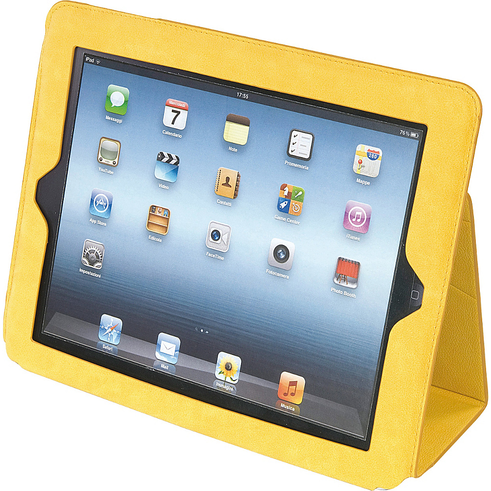 Tucano Ala Folio Case For iPad 4th 3rd Generation iPad 2 Yellow Tucano Electronic Cases