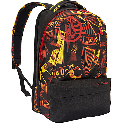 Volcom Basis Polyester Backpack Black Combo - Volcom School & Day Hiking Backpacks