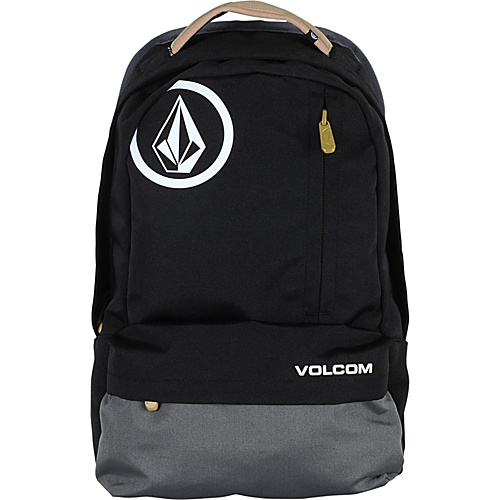 Volcom Basis Polyester Backpack Black Charcoal - Volcom School & Day Hiking Backpacks