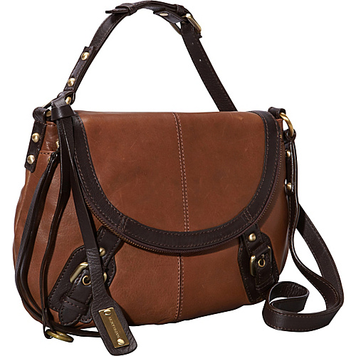 Lucky Brand Buckman Crossbody Cognac - Lucky Brand Leather Handbags