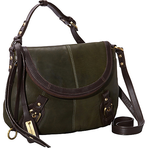 Lucky Brand Buckman Crossbody Olive - Lucky Brand Leather Handbags