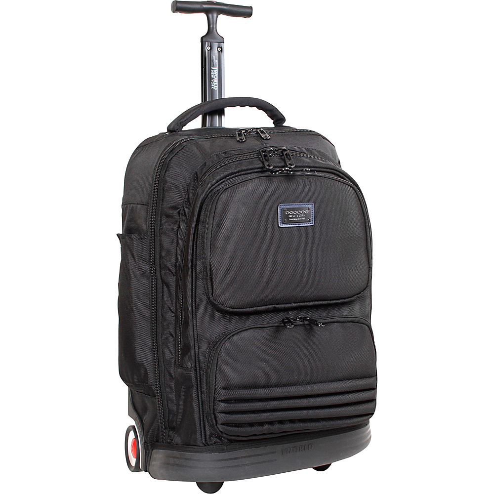 J World New York Brooke Rolling Laptop Backpack Black - J World New York Rolling Backpacks - Backpacks, Rolling Backpacks