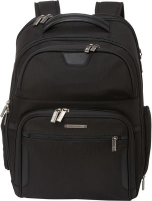 Briggs & Riley Large Clamshell Laptop Backpack - Checkpoint Friendly Black - Briggs & Riley Laptop Backpacks