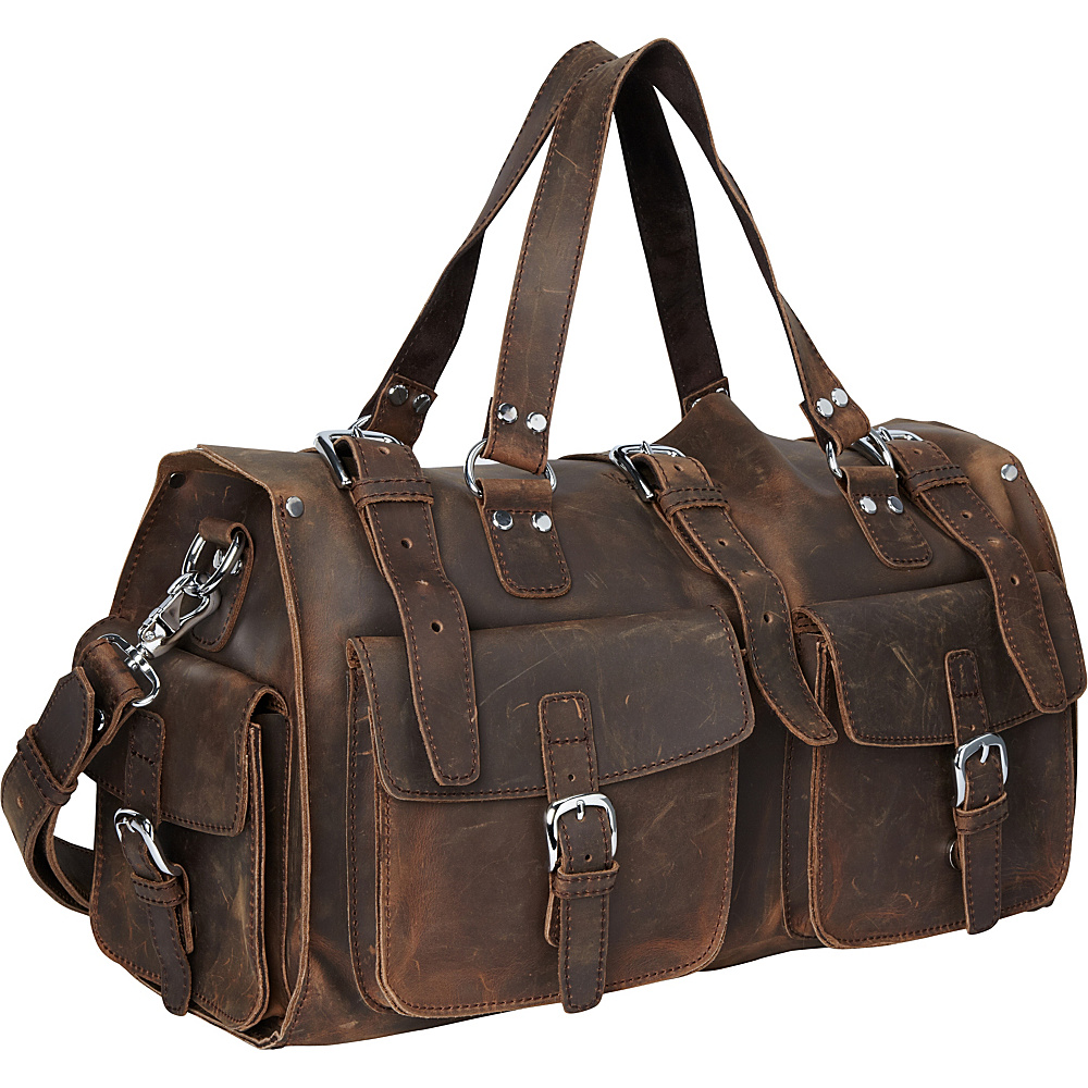 Vagabond Traveler 18 Leather Travel Bag Vintage Distress - Vagabond Traveler Luggage Totes and Satchels - Luggage, Luggage Totes and Satchels