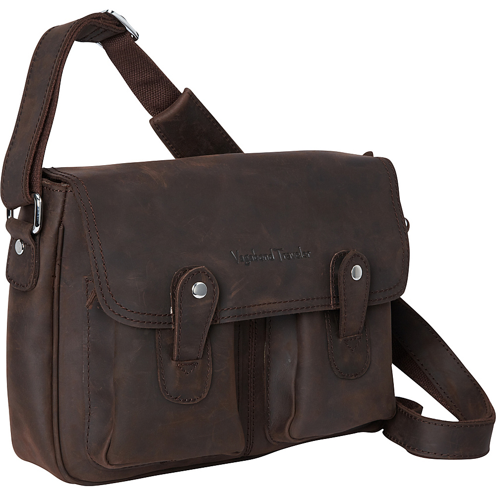 Vagabond Traveler 12.5 Leather Messenger Dark Brown - Vagabond Traveler Other Mens Bags - Work Bags & Briefcases, Other Men's Bags
