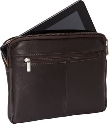 Piel iPad Mini & 7 inch Tablet Sleeve Chocolate - Piel Electronic Cases