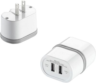Travel Smart by Conair LectronicSmart Dual USB Port AC Wall Charger White - Travel Smart by Conair Electronic Accessories