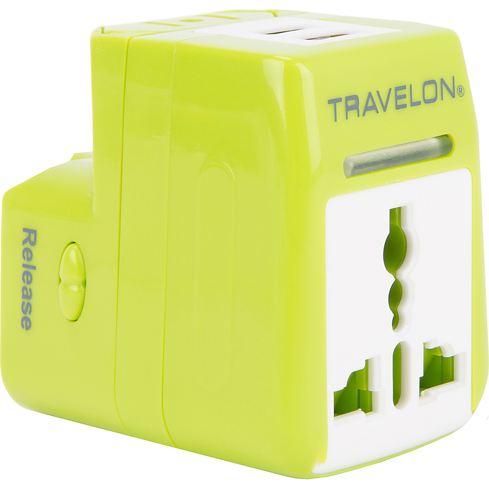 Travelon Dual USB Charger and Adapter Lime - Travelon Electronic Accessories - Technology, Electronic Accessories