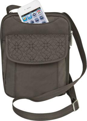 Travelon Anti-Theft Signature Slim Pouch Truffle - Travelon Fabric Handbags