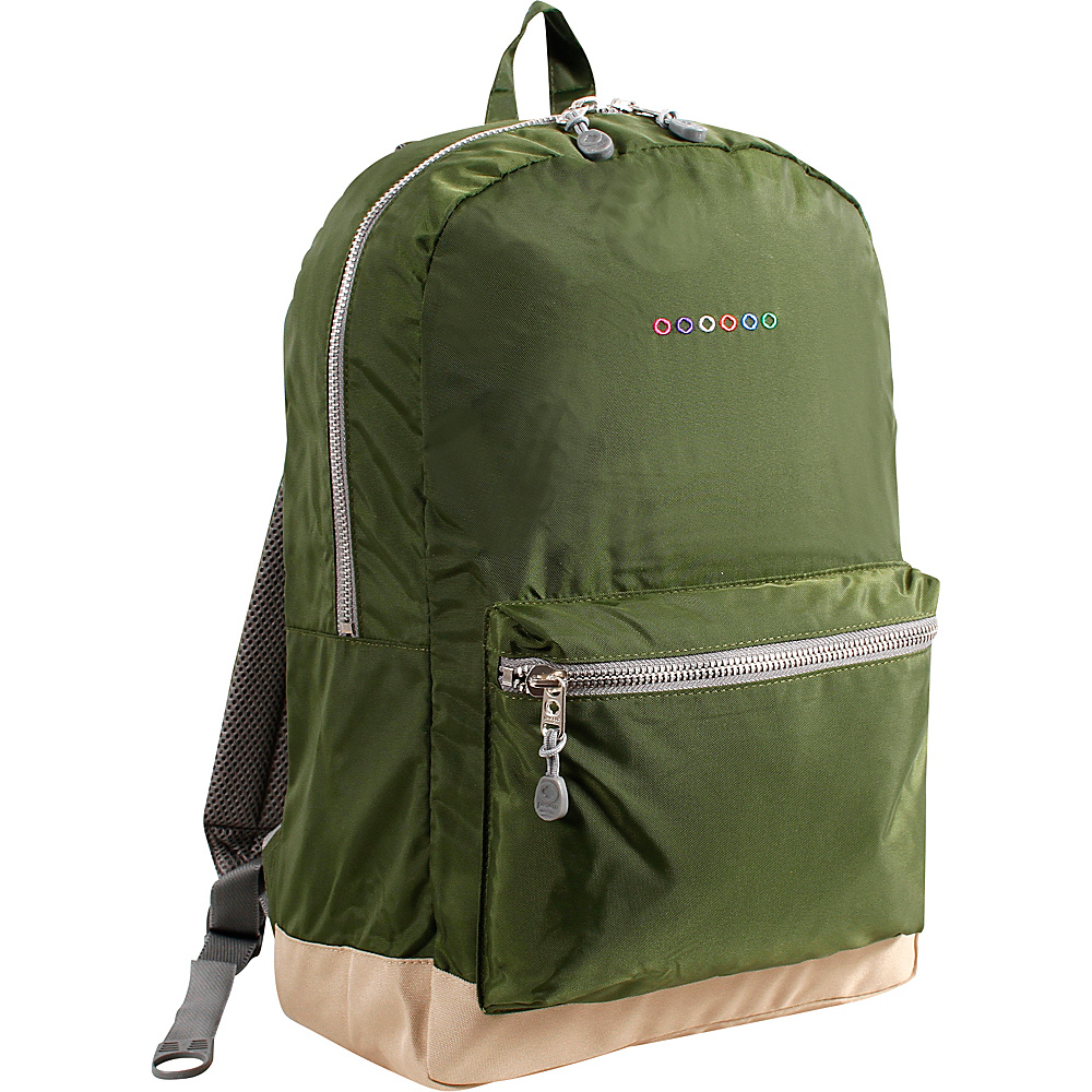 J World New York Lux Backpack Khaki Green - J World New York Everyday Backpacks - Backpacks, Everyday Backpacks
