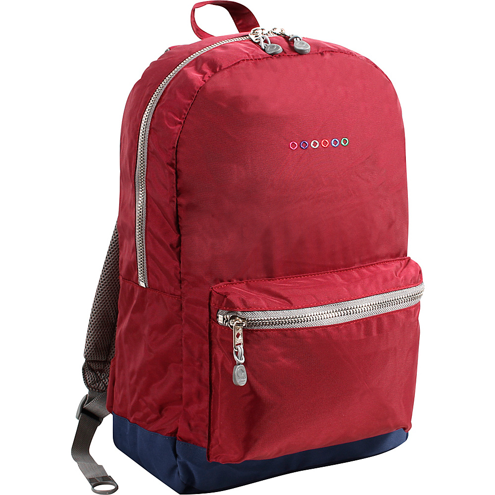 J World New York Lux Backpack Burgundy - J World New York Everyday Backpacks - Backpacks, Everyday Backpacks