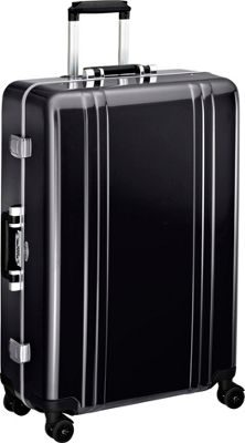 Zero Halliburton Classic Polycarbonate 28 inch 4 Wheel Spinner Travel Case Black - Zero Halliburton Hardside Checked