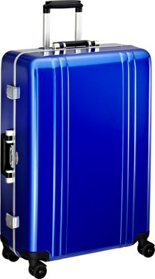 Zero Halliburton Classic Polycarbonate 28 inch 4 Wheel Spinner Travel Case Blue - Zero Halliburton Hardside Checked