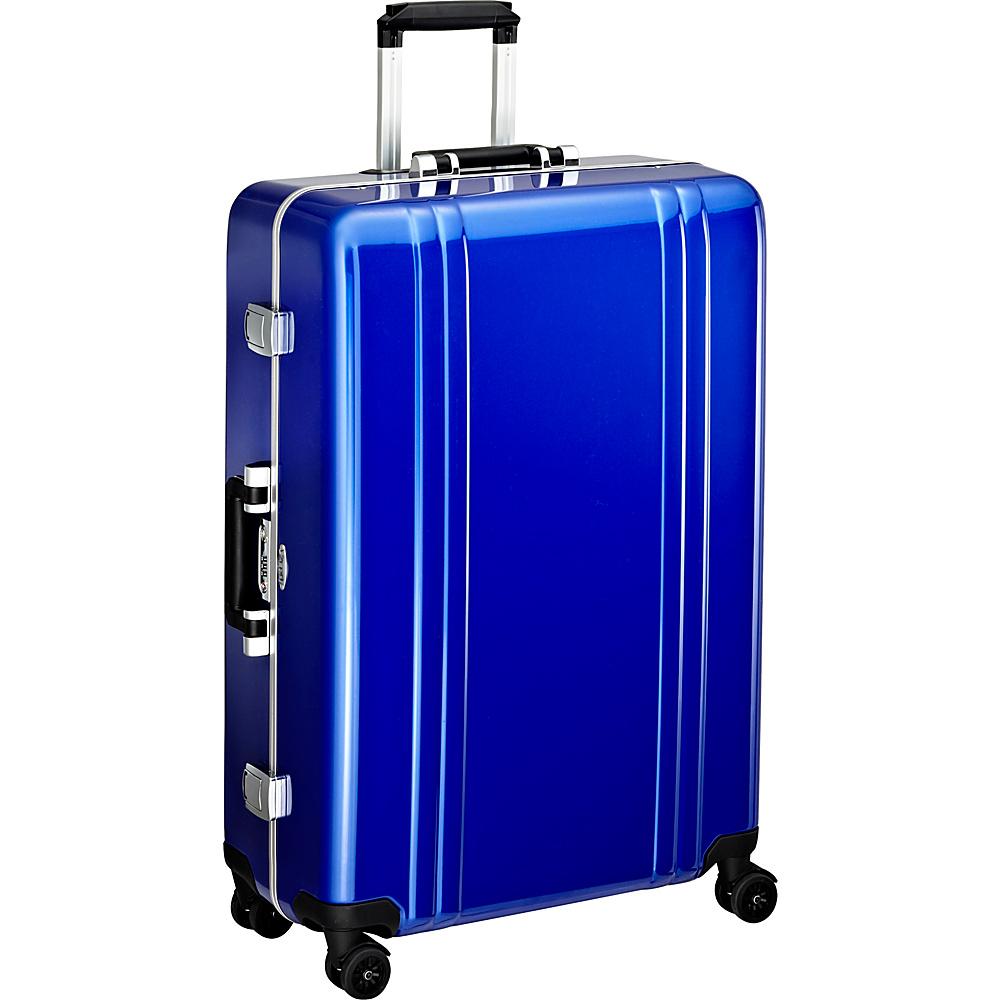 Zero Halliburton Classic Polycarbonate 28 4 Wheel Spinner Travel Case Blue Zero Halliburton Hardside Checked