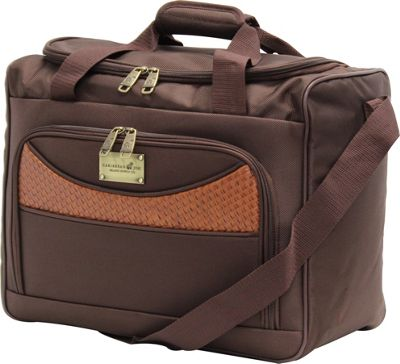 Caribbean Joe Castaway 16 inch Boarding Tote Brown - Caribbean Joe Luggage Totes and Satchels