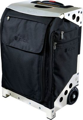 ZUCA Flyer Artist Black/Silver Frame Black - Silver Frame - ZUCA Softside Carry-On