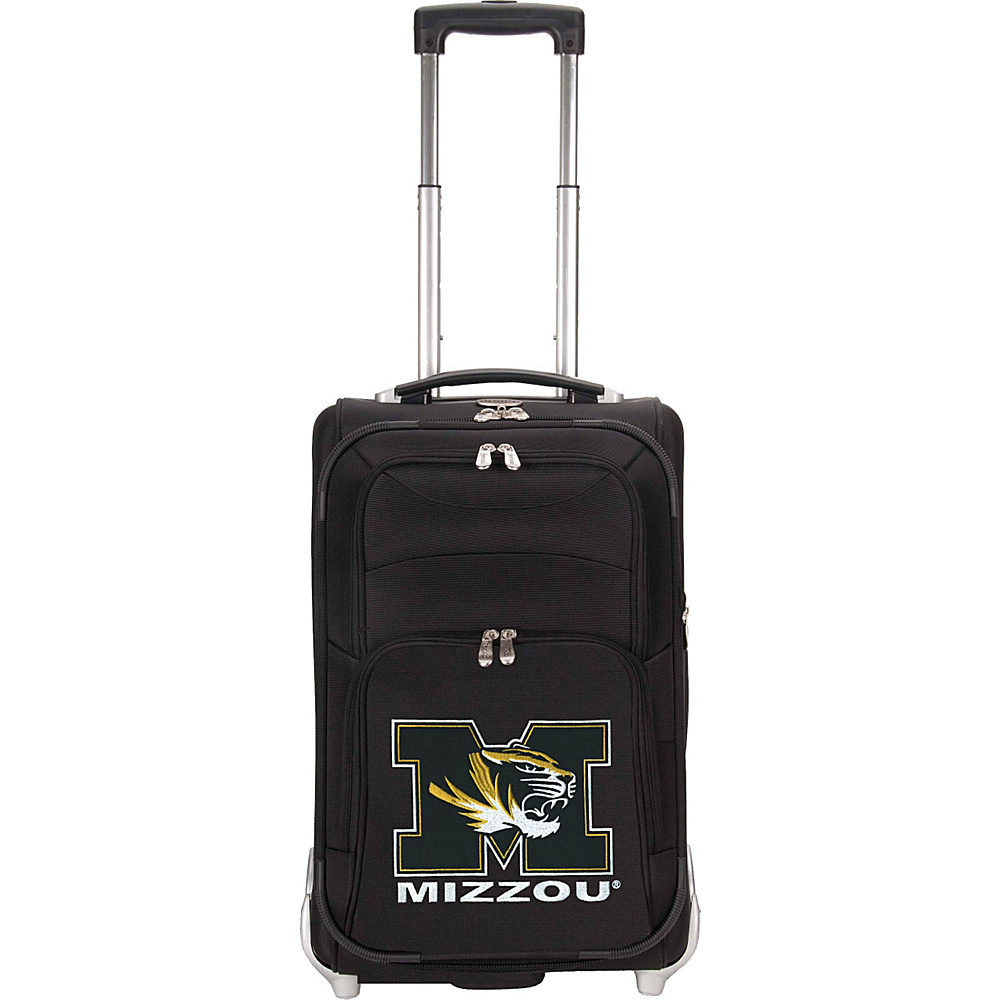 Denco Sports Luggage NCAA University of Missouri Tigers 21 Upright Exp Wheeled Carry-on Black - Denco Sports Luggage Small Rolling Luggage - Luggage, Small Rolling Luggage