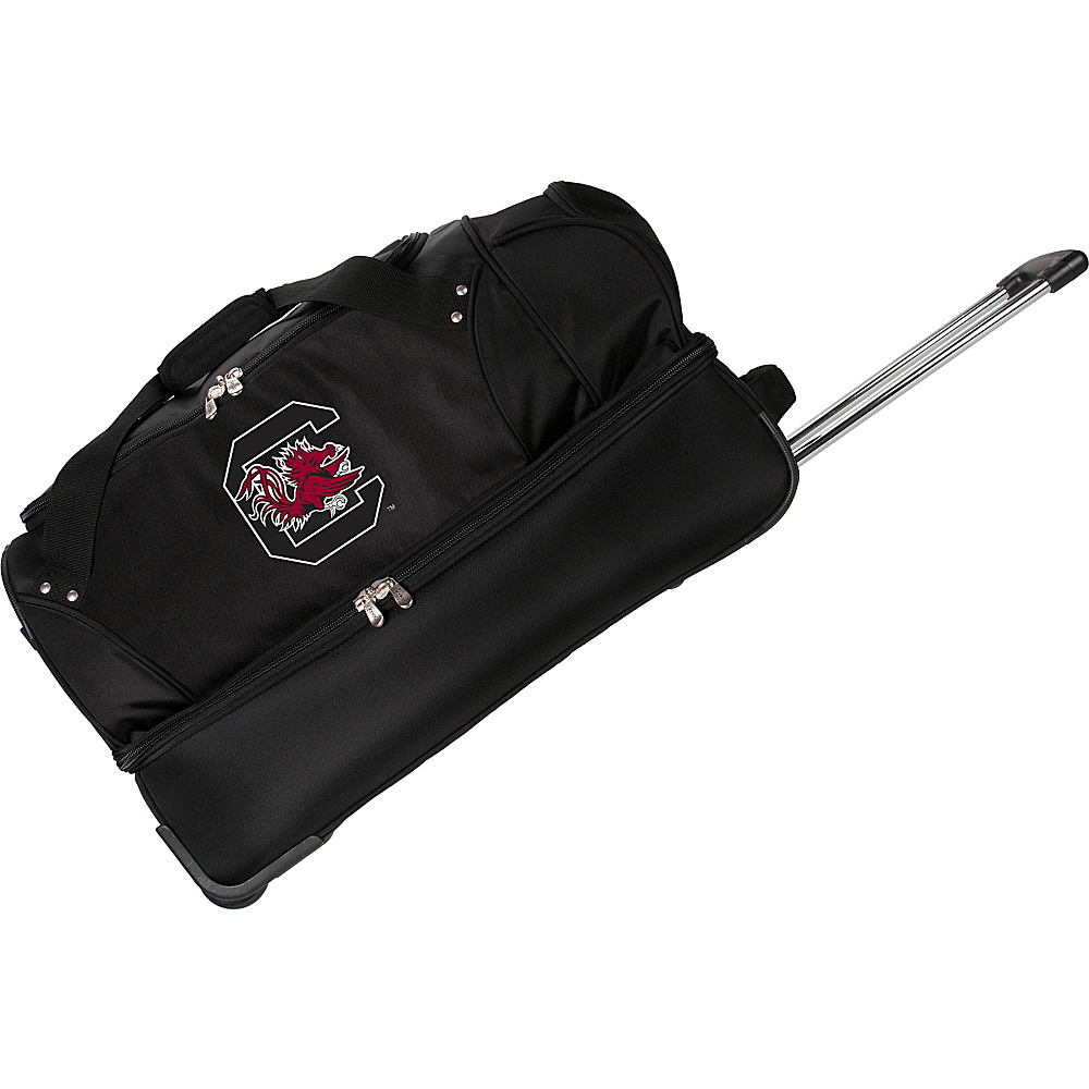 Denco Sports Luggage NCAA University of South Carolina Gamecocks 27 Drop Bottom Wheeled Duffel Bag Black - Denco Sports Luggage Travel Duffels - Luggage, Travel Duffels