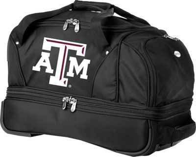 "Denco Sports Luggage NCAA Texas A&M University Aggies 22"""" Drop Bottom Wheeled Duffel Bag Black - Denco Sports Luggage Travel Duffels"