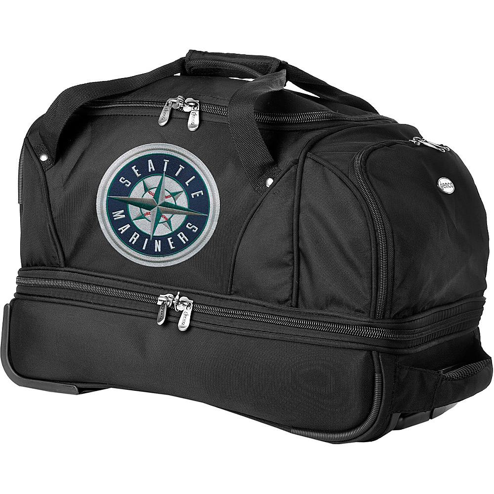 "Denco Sports Luggage MLB 22"" Drop Bottom Wheeled Duffel Bag Seattle Mariners - Denco Sports Luggage Rolling Duffels"