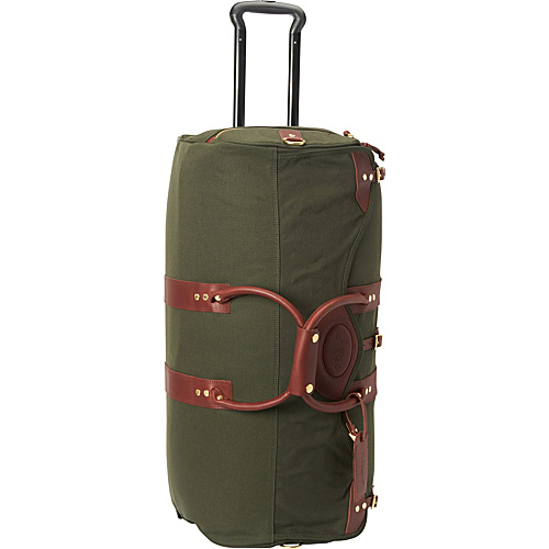 Orvis Battenkill Classic DuffleOnWheels Green/Brown. - Orvis Travel Duffels