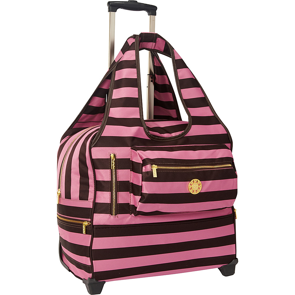 Sydney Love Stripe Day Trip Bag Brown/Pink - Sydney Love Softside Carry-On