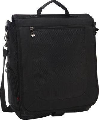 bellino 3 way vertical compucase 2 colors messenger bag