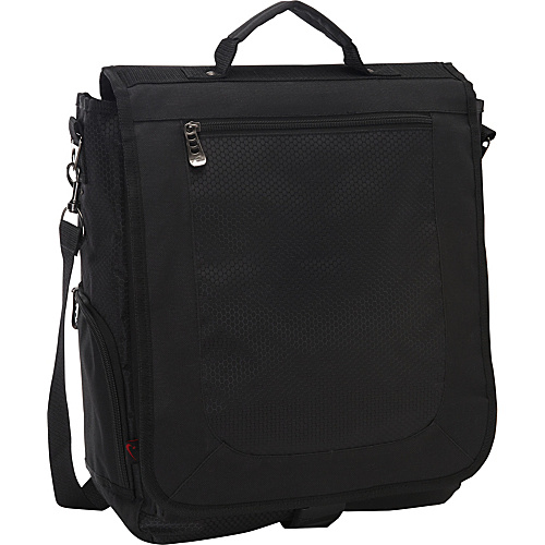 Bellino 3-Way Vertical Compucase Black - Bellino Laptop Messenger Bags