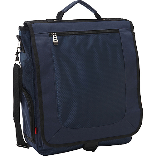 Bellino 3-Way Vertical Compucase Navy - Bellino Laptop Messenger Bags