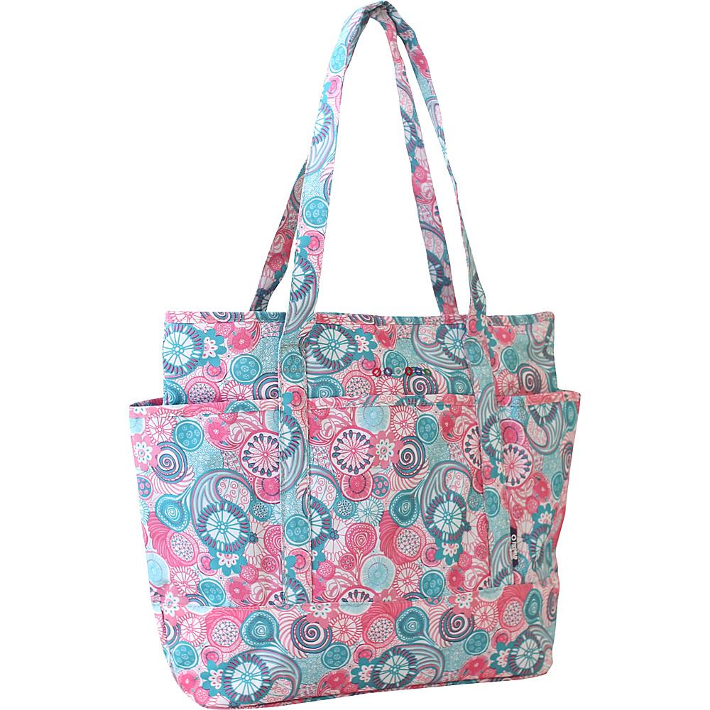 J World New York Emily Tote Bag Blue Raspberry - J World New York Fabric Handbags - Handbags, Fabric Handbags
