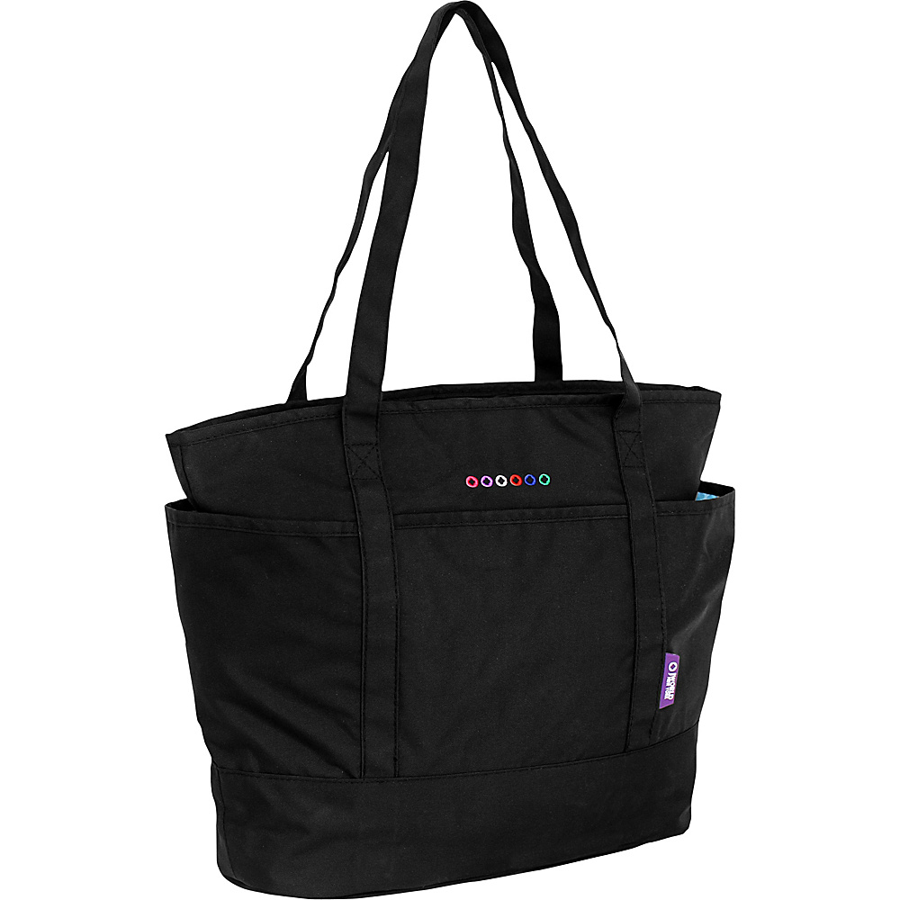 J World New York Emily Tote Bag Black J World New York Fabric Handbags