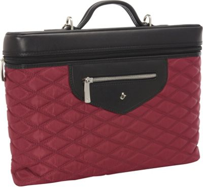 KNOMO London Alfie 13 inch Laptop Carrier Black Cherry - KNOMO London Non-Wheeled Business Cases