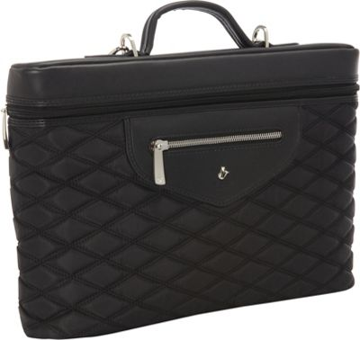 KNOMO London Alfie 13 inch Laptop Carrier Black - KNOMO London Non-Wheeled Business Cases