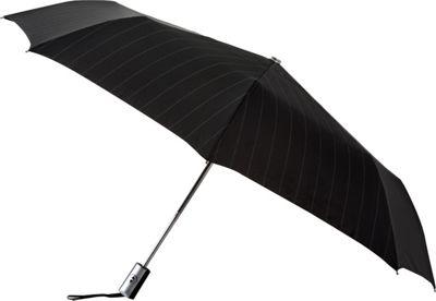 Leighton Umbrellas Manhattan Automatic Umbrella black and white stripe - Leighton Umbrellas Umbrellas and Rain Gear