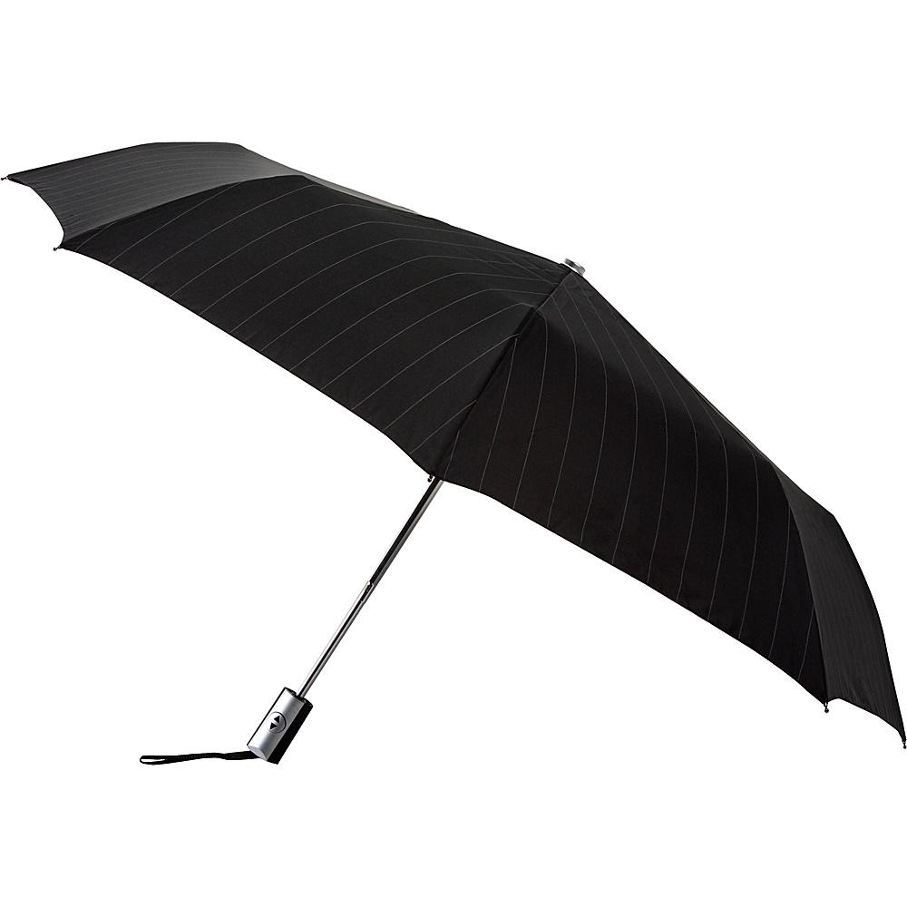Leighton Umbrellas Manhattan black and white stripe Leighton Umbrellas Umbrellas and Rain Gear
